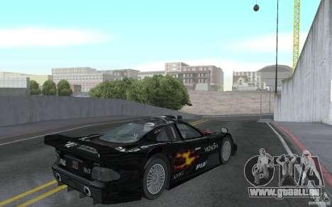 Mercedes-Benz CLK GTR road version (v2.0.0) für GTA San Andreas rechten Ansicht