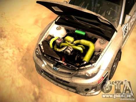 Subaru Impreza Gravel Rally pour GTA San Andreas vue de dessous