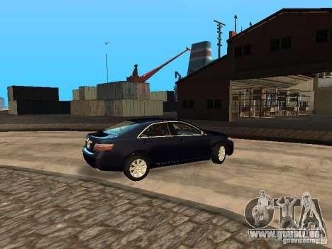 Toyota Camry 2007 pour GTA San Andreas vue de droite