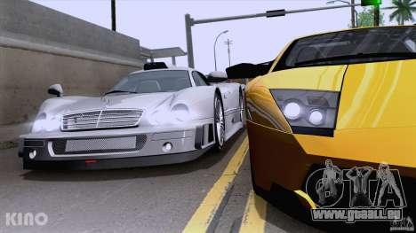 Mercedes-Benz CLK GTR Road Carbon Spoiler pour GTA San Andreas vue de droite