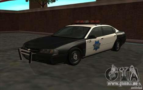 Chevrolet Impala 2003 SFPD für GTA San Andreas