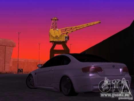 BMW M3 E92 Drift pour GTA San Andreas laissé vue