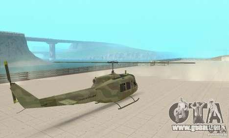 UH-1 Iroquois (Huey) pour GTA San Andreas laissé vue