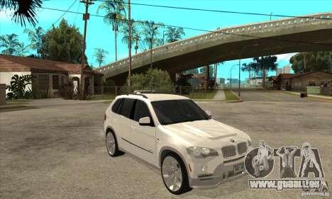 BMW X5 E70 Tuned pour GTA San Andreas vue arrière