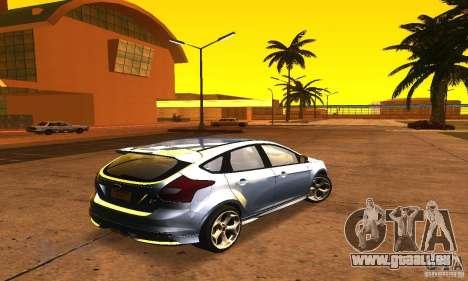 Ford Focus 3 pour GTA San Andreas sur la vue arrière gauche