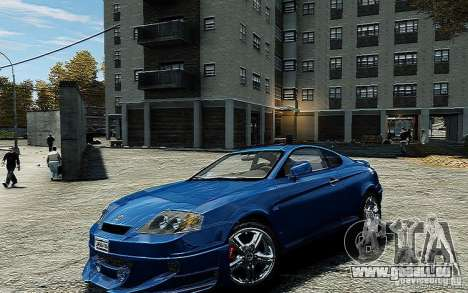 Hyundai Tuscani pour GTA 4 est un droit