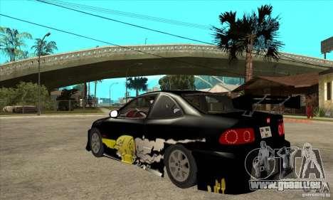 Honda Civic Tuning Tunable pour GTA San Andreas vue de droite