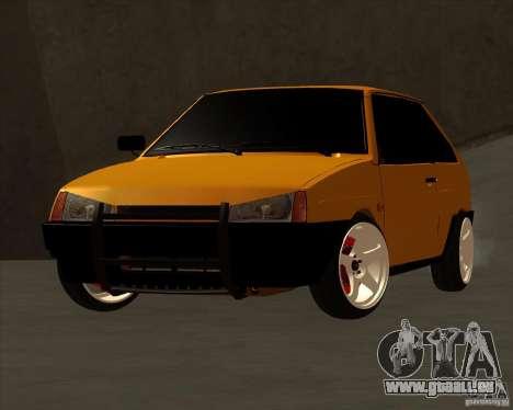VAZ 2108 (version avec disques blancs) pour GTA San Andreas sur la vue arrière gauche