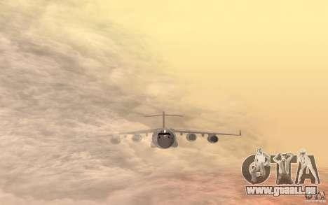 C-17 Globemaster III pour GTA San Andreas sur la vue arrière gauche