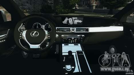 Lexus GS350 2013 v1.0 pour GTA 4 Vue arrière