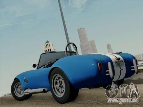 Shelby Cobra 427 für GTA San Andreas zurück linke Ansicht