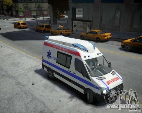 Mercedes-Benz Sprinter Azerbaijan Ambulance v0.2 für GTA 4 rechte Ansicht