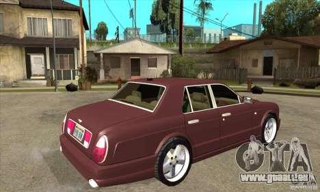 Bentley Arnage GT pour GTA San Andreas vue de droite
