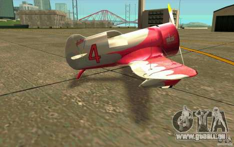 GeeBee typeZ pour GTA San Andreas sur la vue arrière gauche