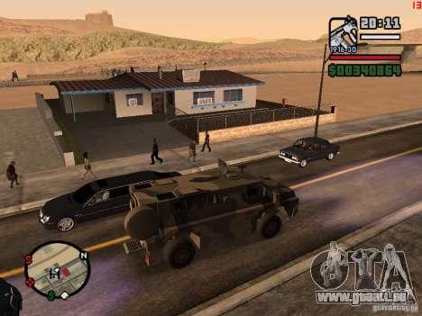 Australian Bushmaster pour GTA San Andreas laissé vue