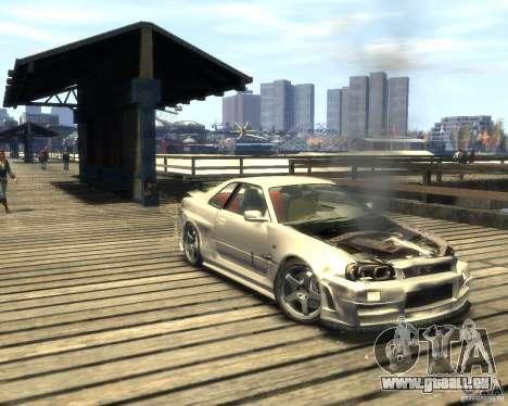 Nissan Skyline GT-R34 Nismo pour GTA 4 Vue arrière