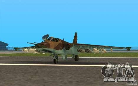 Le Su-25 pour GTA San Andreas laissé vue