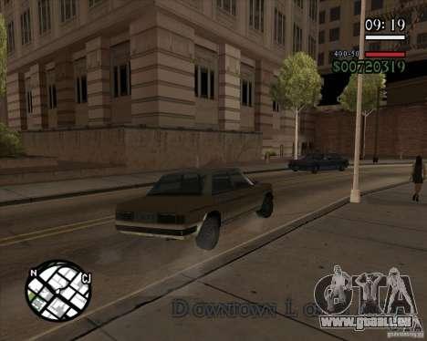 Nouvelle gestion pragmatique pour GTA San Andreas quatrième écran