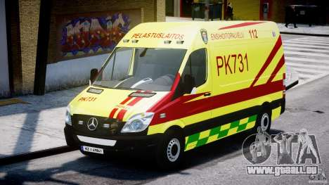 Mercedes-Benz Sprinter PK731 Ambulance [ELS] pour GTA 4