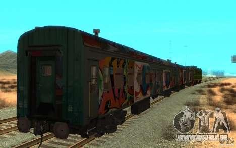 New Graffity Train für GTA San Andreas zurück linke Ansicht
