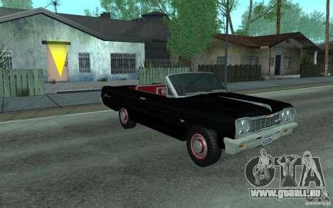 Chevrolet Impala SS 1964 pour GTA San Andreas vue de dessus