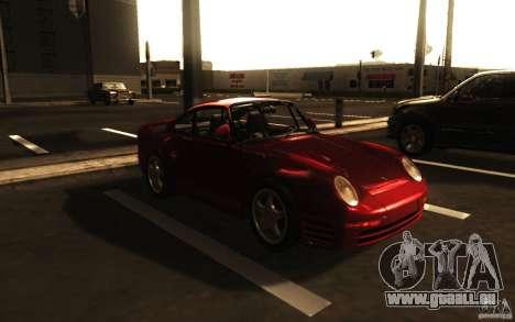 Porsche 959 1987 pour GTA San Andreas laissé vue