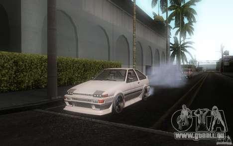 Toyota Sprinter Trueno AE86 Drift spec pour GTA San Andreas laissé vue