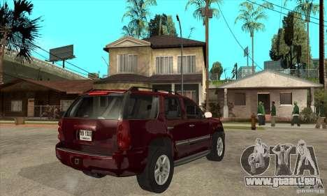 GMC Yukon 2008 pour GTA San Andreas vue de droite