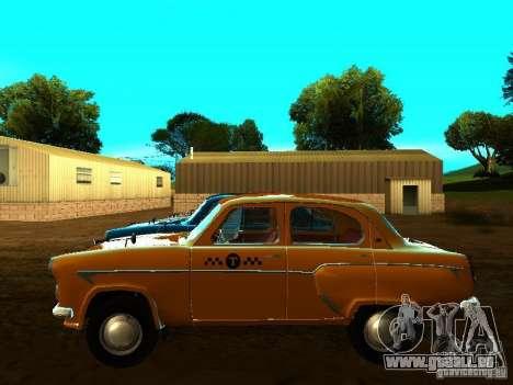 Moskvich 403 Taxi pour GTA San Andreas laissé vue