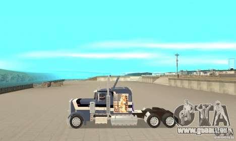 Peterbilt 359 pour GTA San Andreas laissé vue