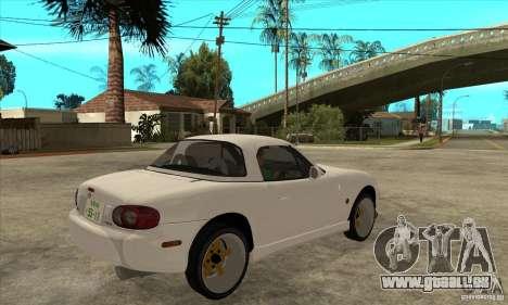 Mazda MX-5 JDM Coupe pour GTA San Andreas vue de droite
