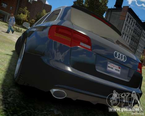 Audi A6 Avant Stanced pour GTA 4 Vue arrière de la gauche