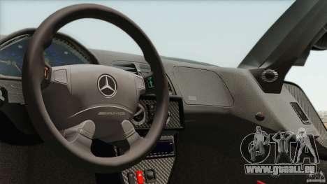Mercedes-Benz CLK GTR Race Car pour GTA San Andreas vue intérieure