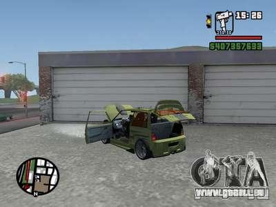 1111 OKA (tuning) pour GTA San Andreas sur la vue arrière gauche