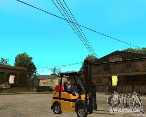 Forklift GTAIV pour GTA San Andreas vue de droite