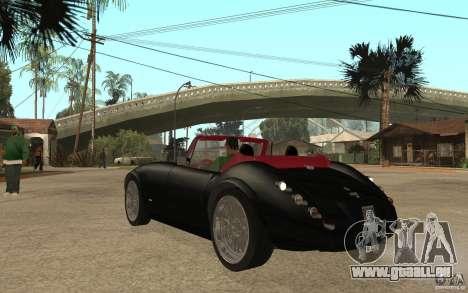 Wiesmann Roadster MF3 pour GTA San Andreas sur la vue arrière gauche