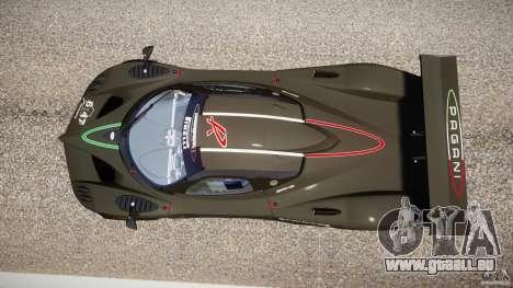 Pagani Zonda R 2009 pour GTA 4 Vue arrière