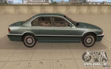 BMW 750iL 1995 pour GTA San Andreas vue intérieure