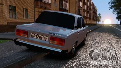 VAZ-2107 pour GTA 4 Vue arrière de la gauche