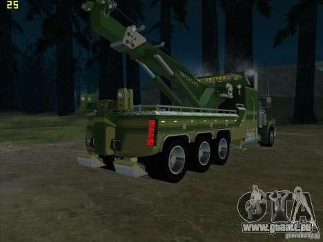 Peterbilt 379 Wrecker pour GTA San Andreas vue arrière
