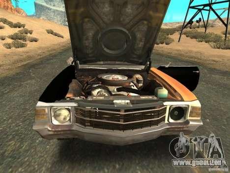 Chevrolet Chevelle Rustelle pour GTA San Andreas vue de droite