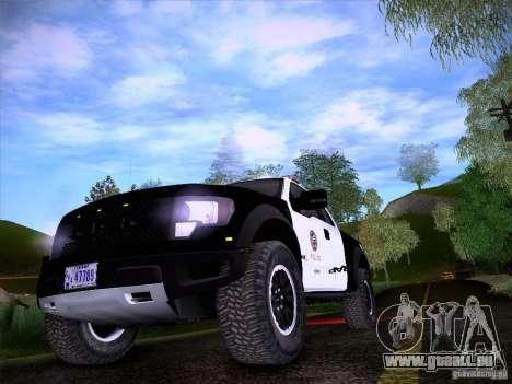 Ford Raptor Police für GTA San Andreas Innenansicht