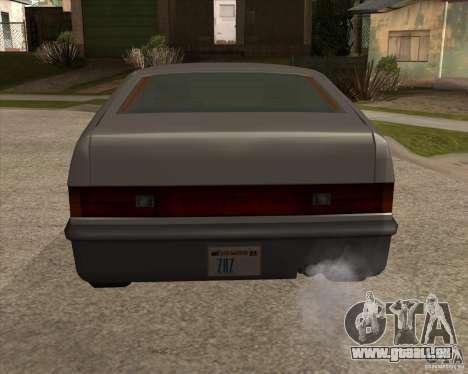 Blistac améliorée pour GTA San Andreas sur la vue arrière gauche