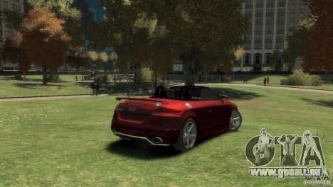 Audi TT RS Roadster pour GTA 4 Vue arrière de la gauche