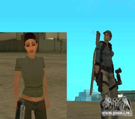 Pak personnages de Resident Evil pour GTA San Andreas quatrième écran