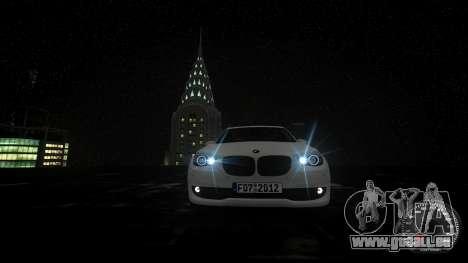 BMW GT F07 2012 GranTurismo pour GTA 4 vue de dessus