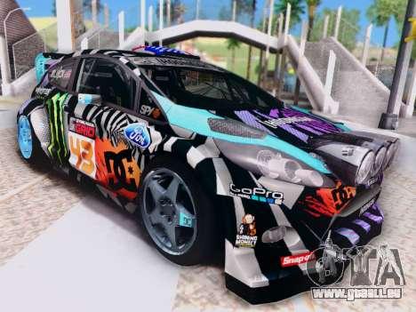 Ford Fiesta Gymkhana 6 für GTA San Andreas zurück linke Ansicht