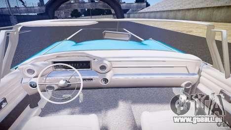 Cadillac Eldorado 1959 interior white pour GTA 4 est une vue de dessous