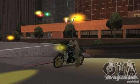 Phares jaunes pour GTA San Andreas quatrième écran