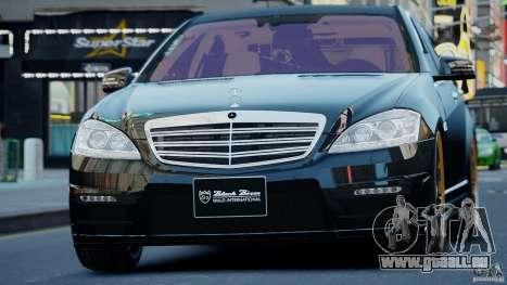 Mercedes-Benz S Class W221 Black Bison 2009 pour GTA 4 Vue arrière de la gauche